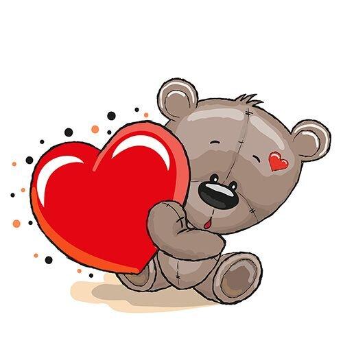 картинки сердечками мишки милые с