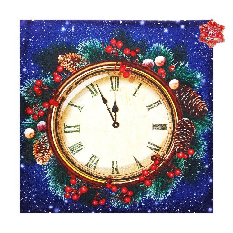 Новогодняя открытка с часами нарисовать, розы для